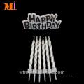 Lange stehende Ruf-Kuchen-Dekorations-reines Paraffin-metallisches Goldgeburtstags-Kerzen-und Motto-Set
