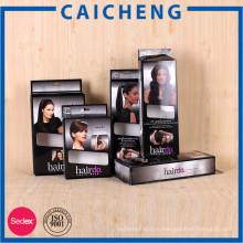 Завод прямых продаж пользовательские складной наращивание волос упаковочной коробки
