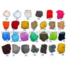 Color Polyester Staple Fiber dope tingido no armazém pronto para envio