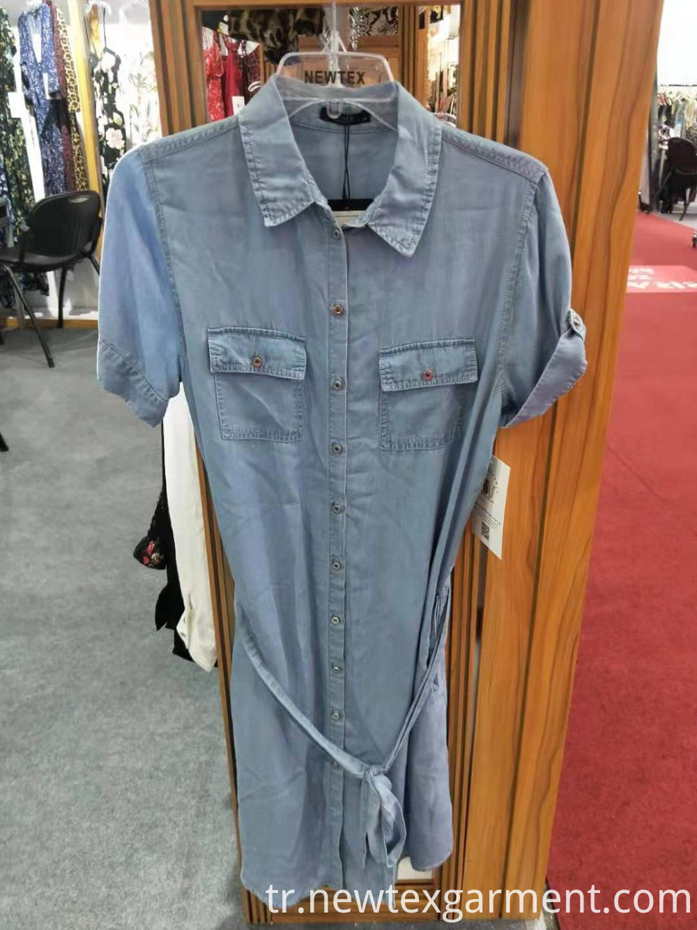 Casual Short Sleeve Denim Dress