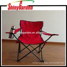 Chaise pliable de camping de quadruple de loisirs avec l'arrêt, chaise en acier de pêche de plage de tube