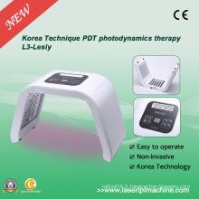 Rouge Violet Vert Jaune 4 LED couleur PDT léger pour traitement thérapie cutanée L3