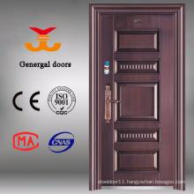 High quality exterior brass copper color door