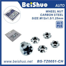 4 + 1 PCS / Set Wheel Lock Nuts pour Anti-Theft