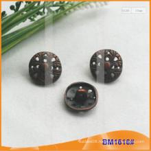 Custom Fancy Hollow Carved Flower Shape Metal Zinc Alloy Shank Button BM1616
