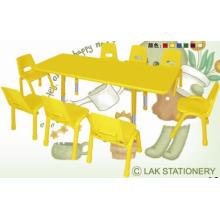 Mesa de altura ajustable a prueba de incendios niños mesa y silla para la escuela de párvulos