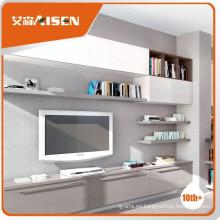 El precio competitivo gris claro alto laca brillante armario de TV