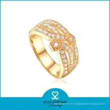 2015 El anillo de plata vendedor caliente de la manera 925 plateó el anillo (R-0235)