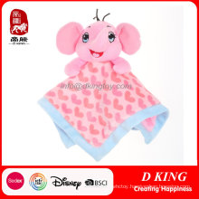 Cute Elephant Head Soothing Towel Toys for Baby