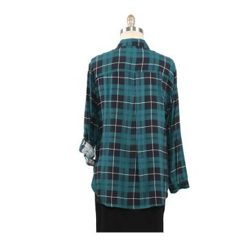 Damen Tops Spring New Arrival Plaid Casual Shirt
