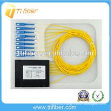 1X8 SC/UPC SM PLC optical fiber splitter