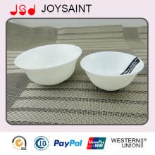 Bol de salade de bol de riz de verrerie d'opale de décalque simple promotionnel pour l'usage à la maison
