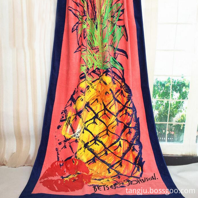 beach towel printed