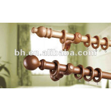Wood Rounded Pole,Wood Curtain Rod Pole Set