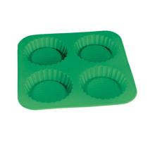 Molde redondo de la torta del silicón de LFGB modificado para requisitos particulares 4 PCS