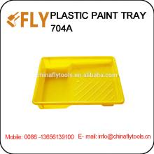 Bandeja de pintura plástica amarilla
