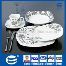 30pcs super white classic decoration ceramic for 4 or 6 people daily use