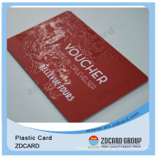 Gift Cards Plastic/Plastic Card with Barcode/Silkscreen Printing Plastic Card