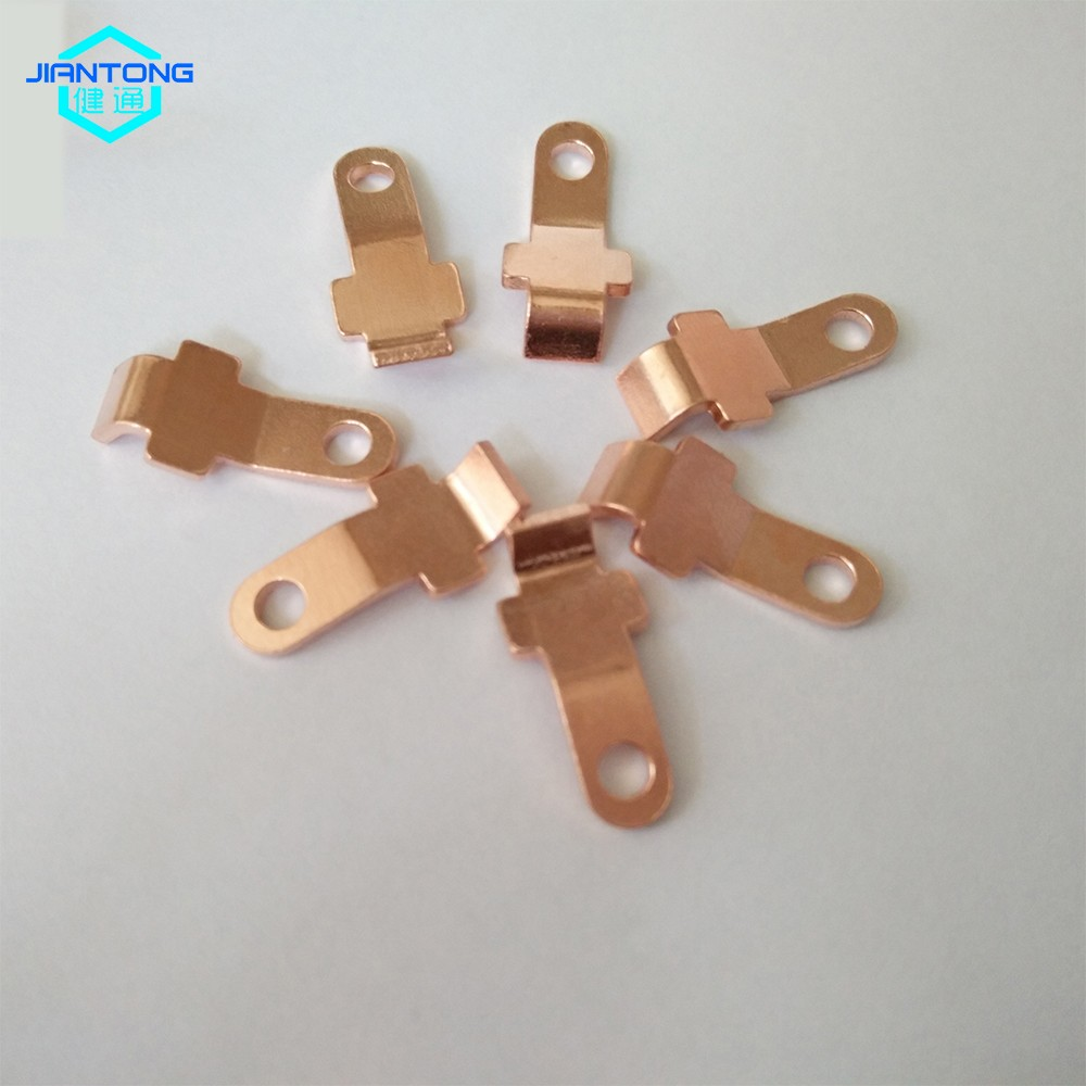 custom copper stamping contact small precision stamping part (4)