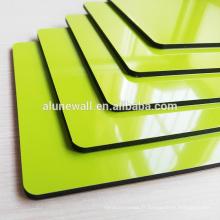 Panneau composite en aluminium à âme haute non polie vert