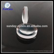 Lentille optique en verre convexe double