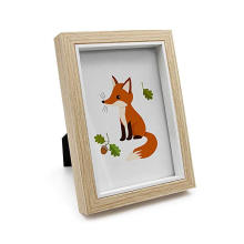High quality wholesale Rustic Picture Frame 5x7 in Beige Thick Wooden Depth Photo Frames for Desk Wall Hanging