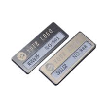 Wholesale blank replaceable rectangular metal aluminum alloy cars, nurses, hotels, employee badges