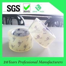 Fita super clara adesiva de BOPP / OPP para a aprovação de empacotamento da caixa SGS & ISO9001 da selagem
