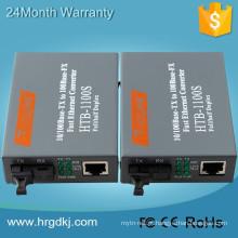 Único conector do conversor do Fiber da fibra do Netlink 10 / 100m do único modo HTB-3100