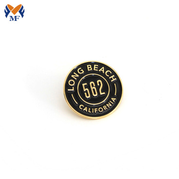 Custom bee brass lapel lencana pin