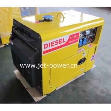 Gerador diesel silencioso refrigerado a ar 5kw portátil