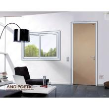 Única porta de madeira do Bedrooom, única porta interior do Woodon, portas de alumínio do banheiro de Slap-up