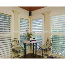 removable 89mm louver interior bi-fold plantation window shutters in basswood