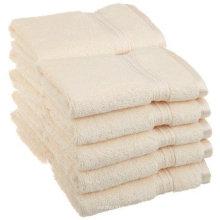 Custom 16s 21s cotton optical white 5 star hotel sauna towel