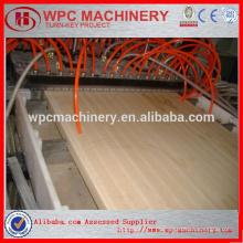 Perfis de painel de porta wpc máquinas de plástico de madeira