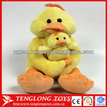 Popular design Mommy and Baby stuffed plush yellow duck toy
