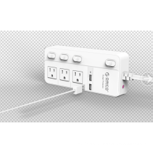 ORICO SPC-S3U2 US Socket Power Strip 3 AC 2 USB Surge Protector