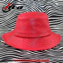 Fashion Snakeskin Leather Unisex Hat