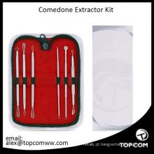 Hot 6Pcs Blackhead Pimple Blemish Comedone Acne Extractor Remover Tool Set Kit