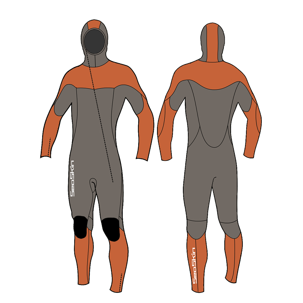 Seaskin Hooded Wetsuit Mens