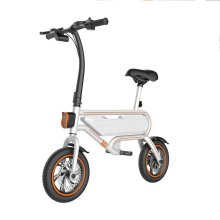 Bicicletas eléctricas negras portátiles de 12 pulgadas para adultos