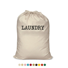 Travelling Fashion reusable eco friendly drawstring Storage Cotton Canvas Laundry Bag with custom logo