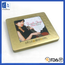 Rectangular Media DVD CD Storage Tin Case