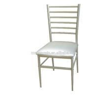 Chaise de salle à manger moderne avec coussin, chaise de restaurant en acier