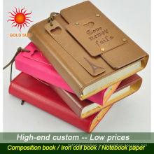 Высокое качество дешевые пользовательские PU кожаный ноутбук,Модный PU кожаный Ежедневник,изготовленный на заказ кожаный тетрадь книга