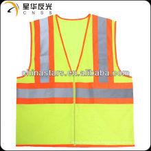 Chaleco reflectante de seguridad reflectante amarillo de alta visibilidad EN471