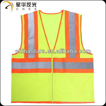 EN471 veste de sécurité réfléchissante à haute visibilité jaune