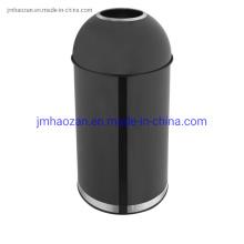 Poubelle en acier inoxydable de haute qualité avec couvercle en entonnoir, poubelle