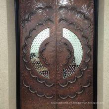 Puerta de aluminio de cobre de lujo
