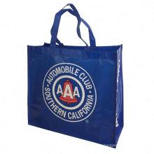 Eco lamination Non Woven Bag , Promotional Custom Laminated PP Non Woven Tote Shopping Bag